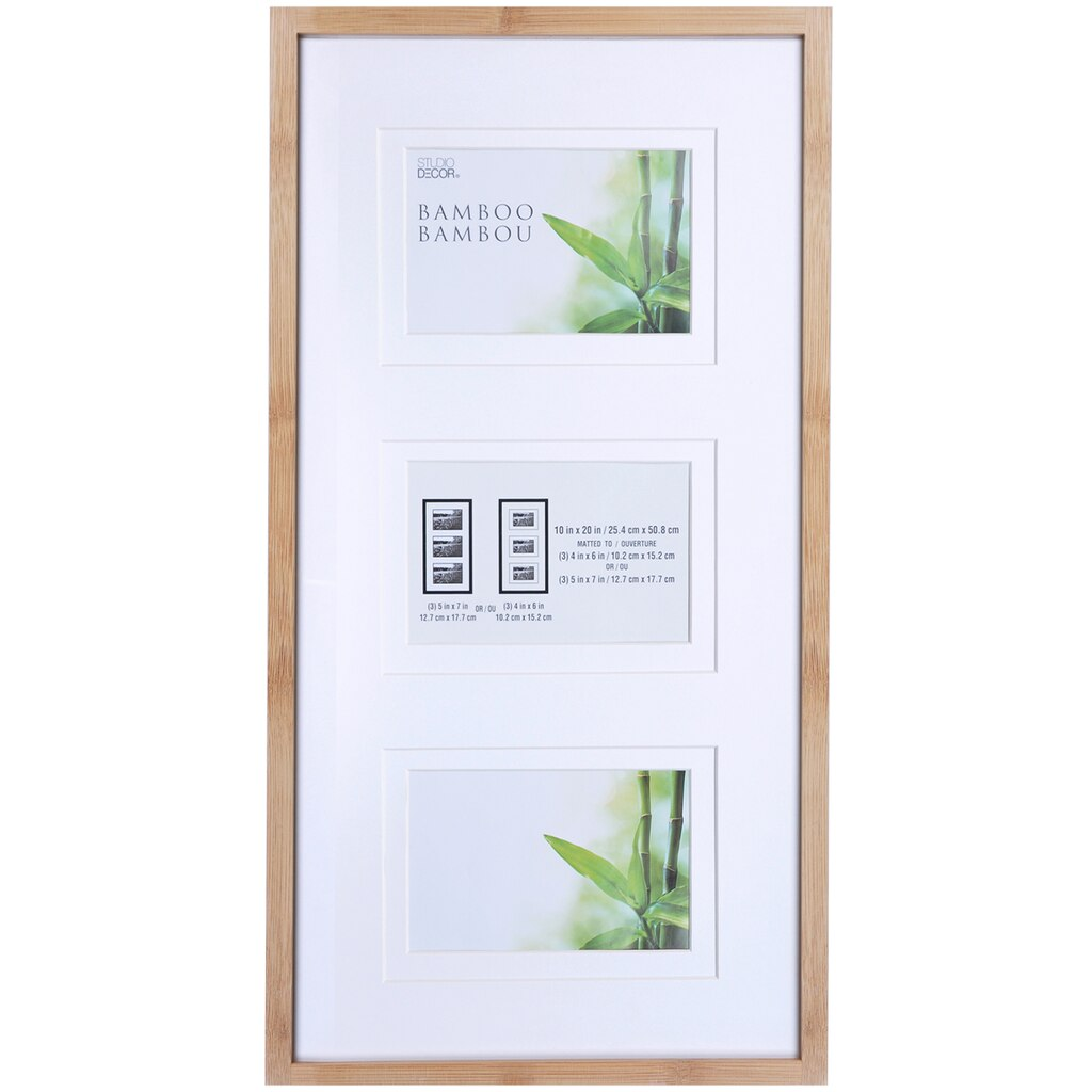 Shop for the 3 opening bamboo collage frame by studio dcor at 3 opening bamboo collage frame by studio dcor jeuxipadfo Images