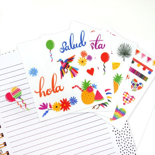Summer fiesta clear stickers by recollections summer fiesta clear stickers