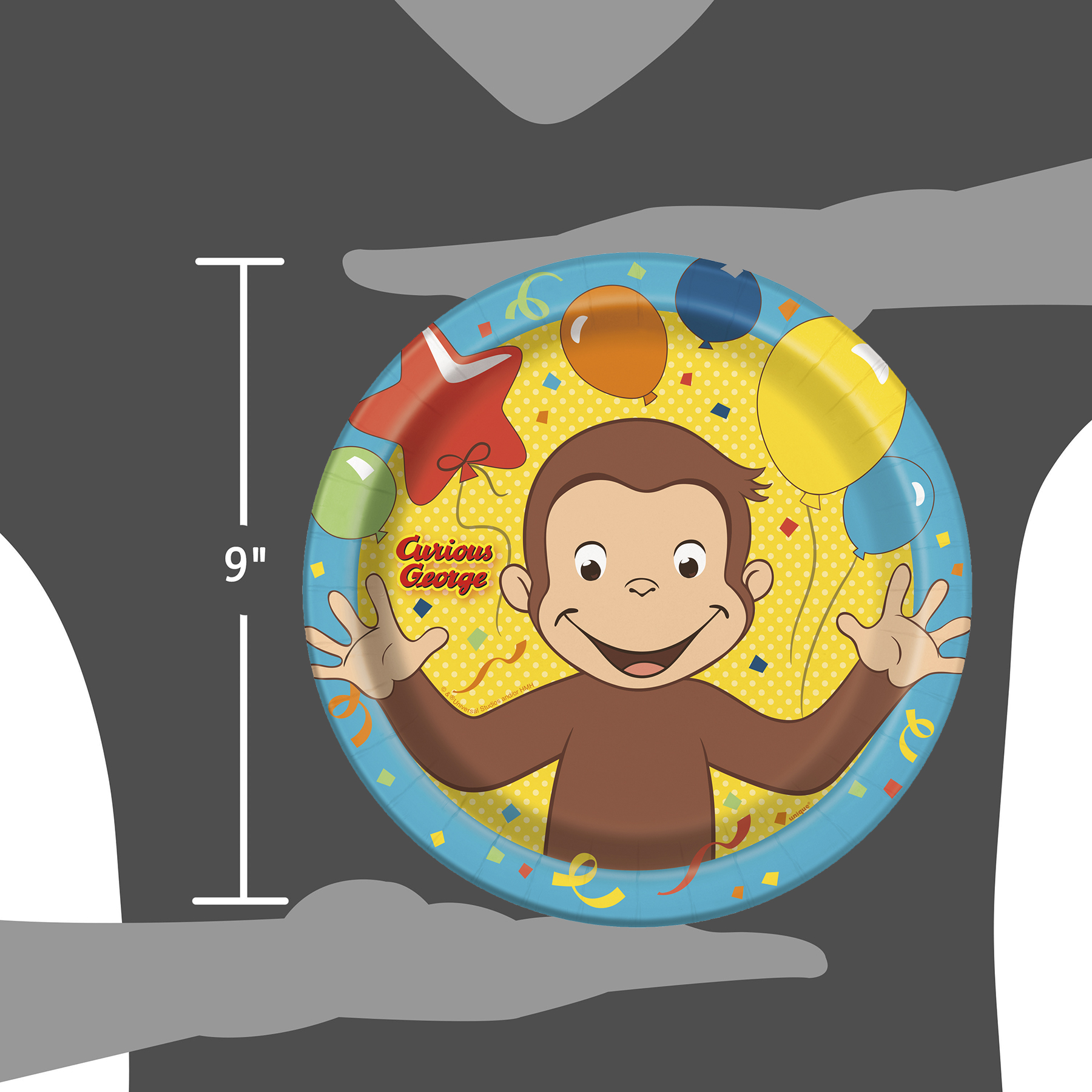 ... 8ct 9  Curious George Party Plates ... & Curious George Paper Plates | Curious George Party Supplies