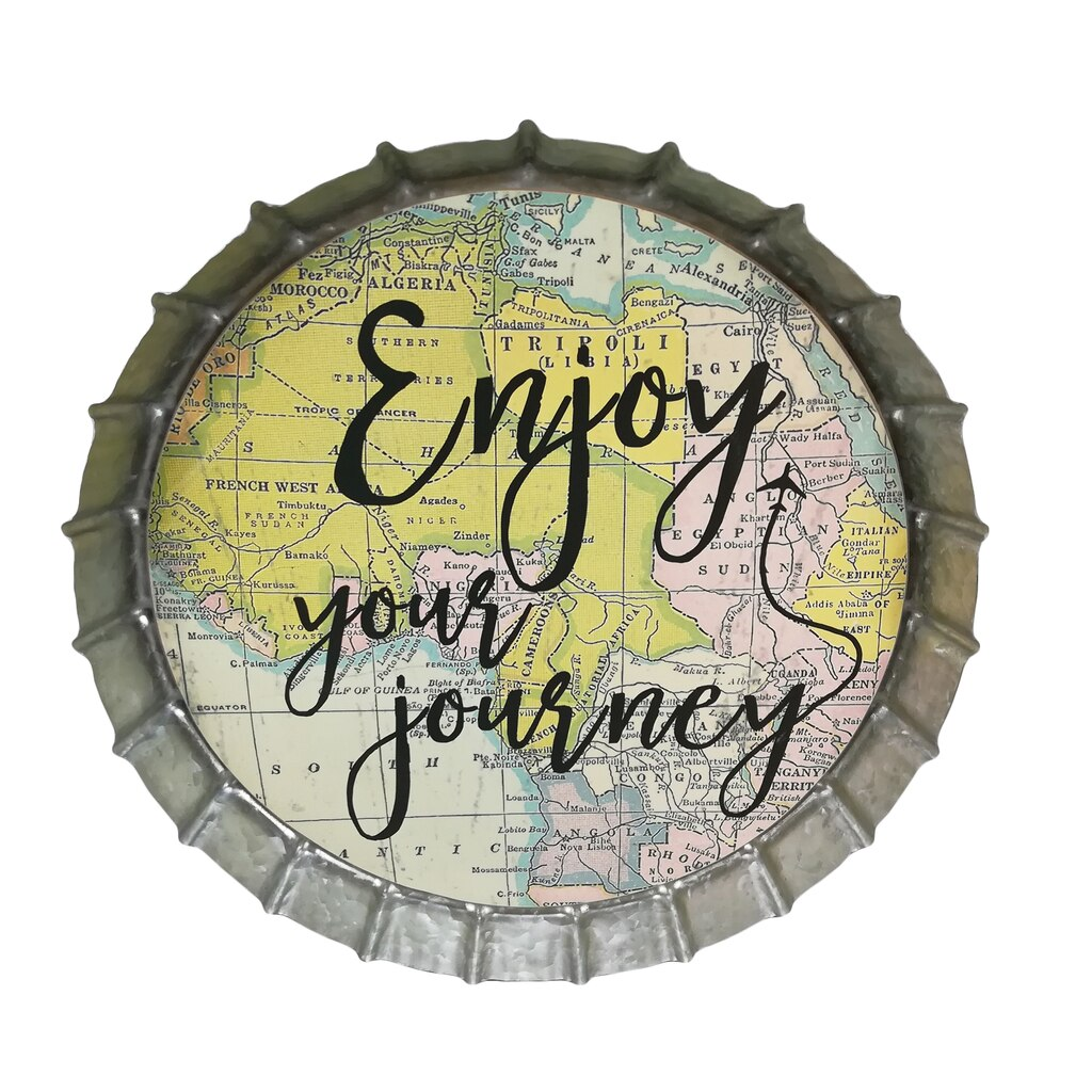 Find the Large Enjoy Your Journey Bottle Cap Wall Sign By Ashland ...