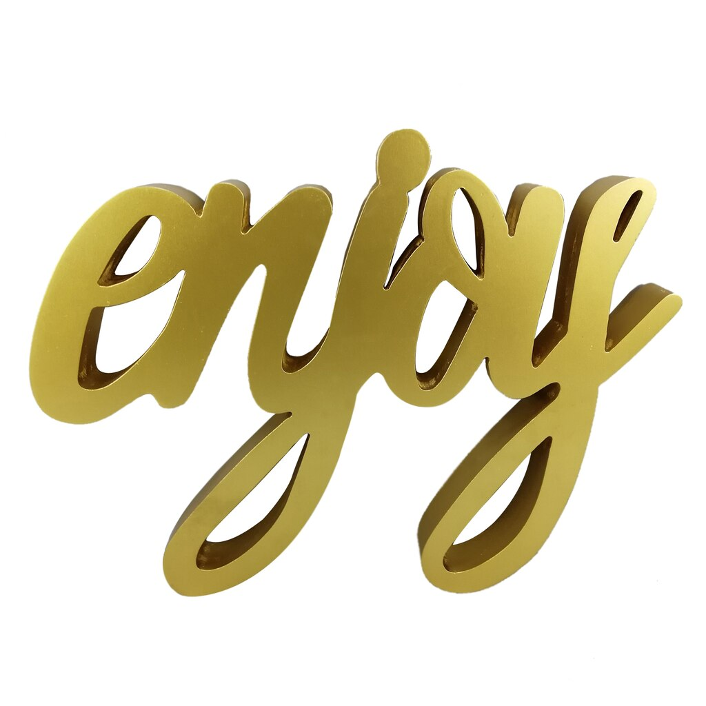 Shop for the Gold Enjoy Word Wall Sign By Ashland® at Michaels