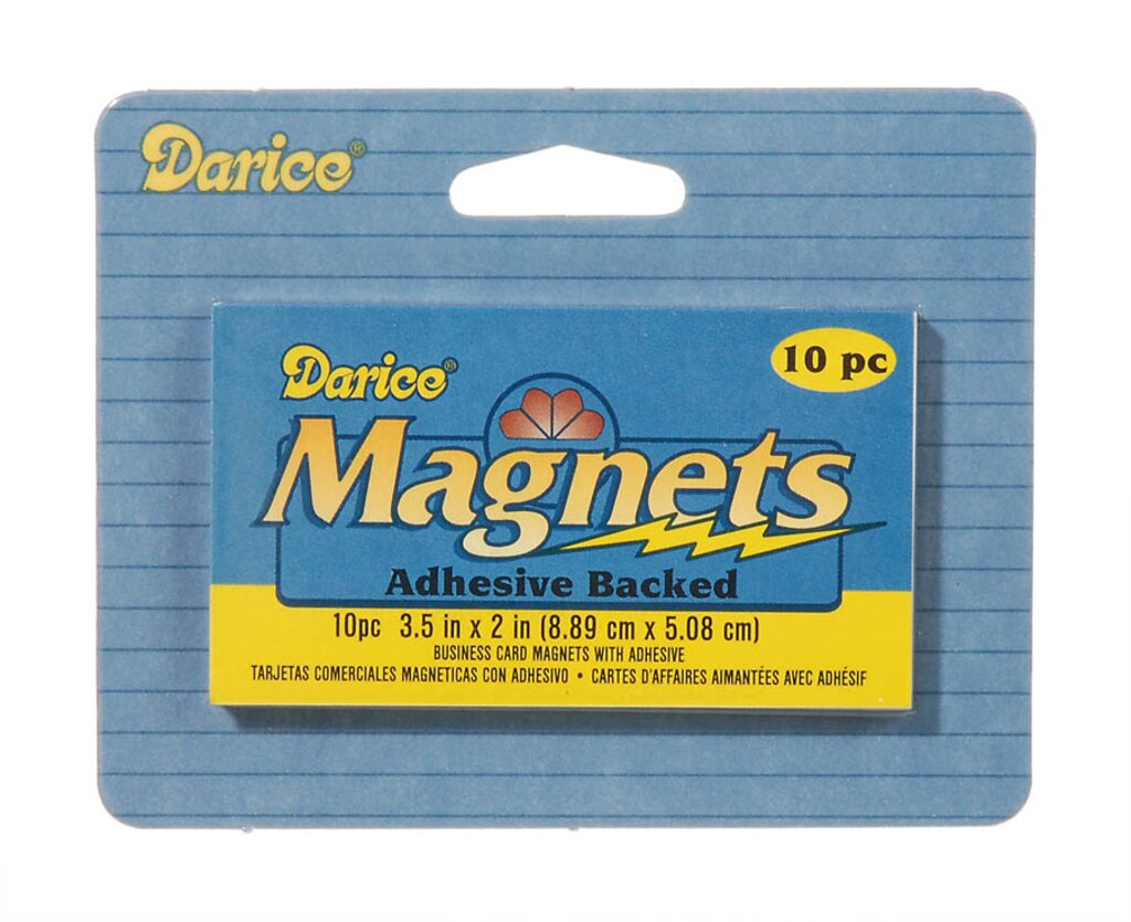 Business Card Magnets - Adhesive Back - Black - 3-1/2 x 2 inch - 10 pack