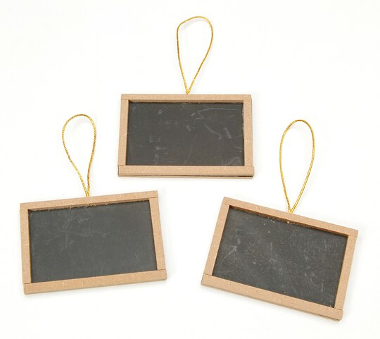 Mini Chalkboards with Wood Frame: 2 x 3 inches, 3 pieces