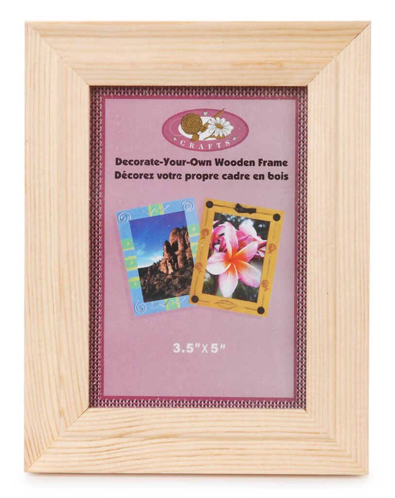 Unfinished Wood Picture Frame: Wide, 3.5x5 inches