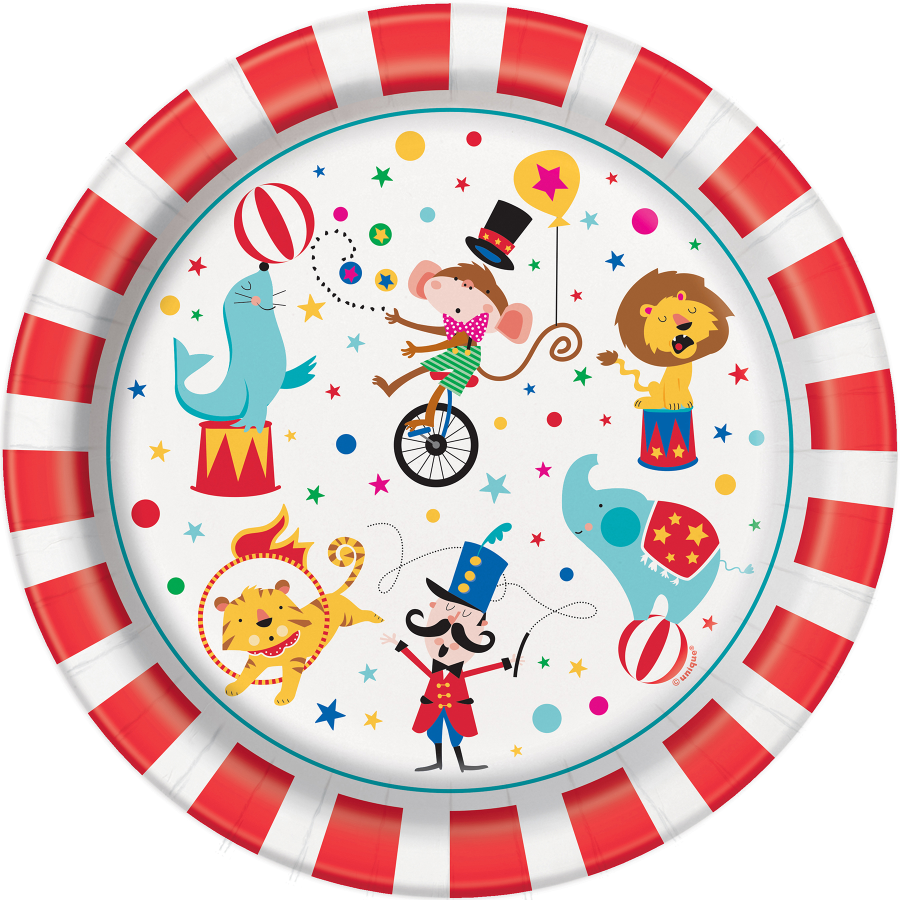 Carnival Circus Party Plates  sc 1 st  Michaels Stores & Circus Birthday Paper Plates | Carnival Circus Party Supplies