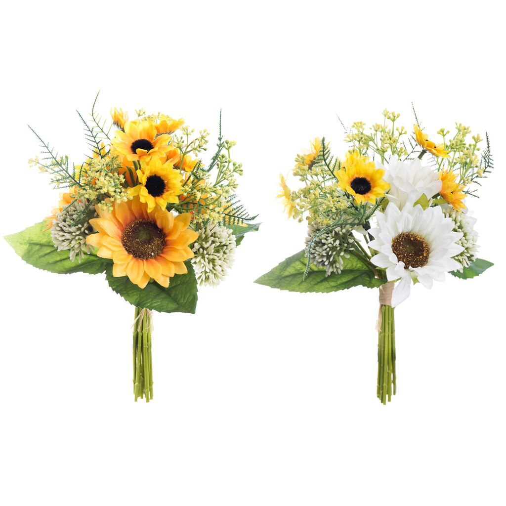 Buy the Assorted Yellow & White Mixed Sunflower Bundle By Ashland ...