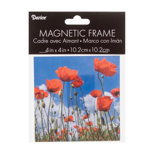 Acrylic Magnetic Photo Frame: Clear, 4x4 inches