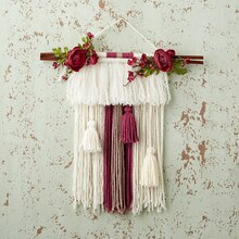 Wall dcor yarn and floral wall hanging solutioingenieria Image collections