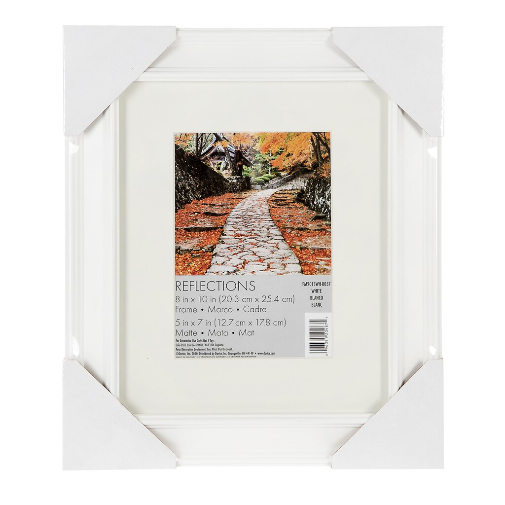 Darice® Beveled Edge Picture Frame: White, 5 x 7 inches