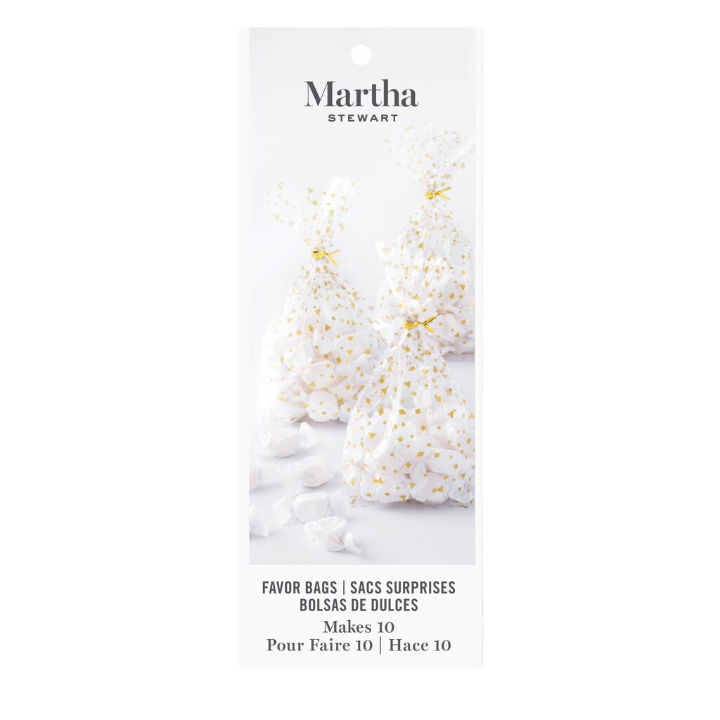 Shop for the Martha Stewart Gold Printed Cellophane Favor Bags at ...