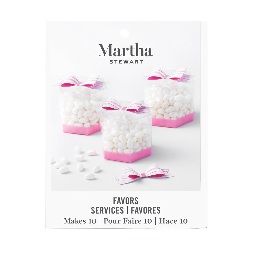 Buy the Martha Stewart Pink Ombre Favor Boxes at Michaels