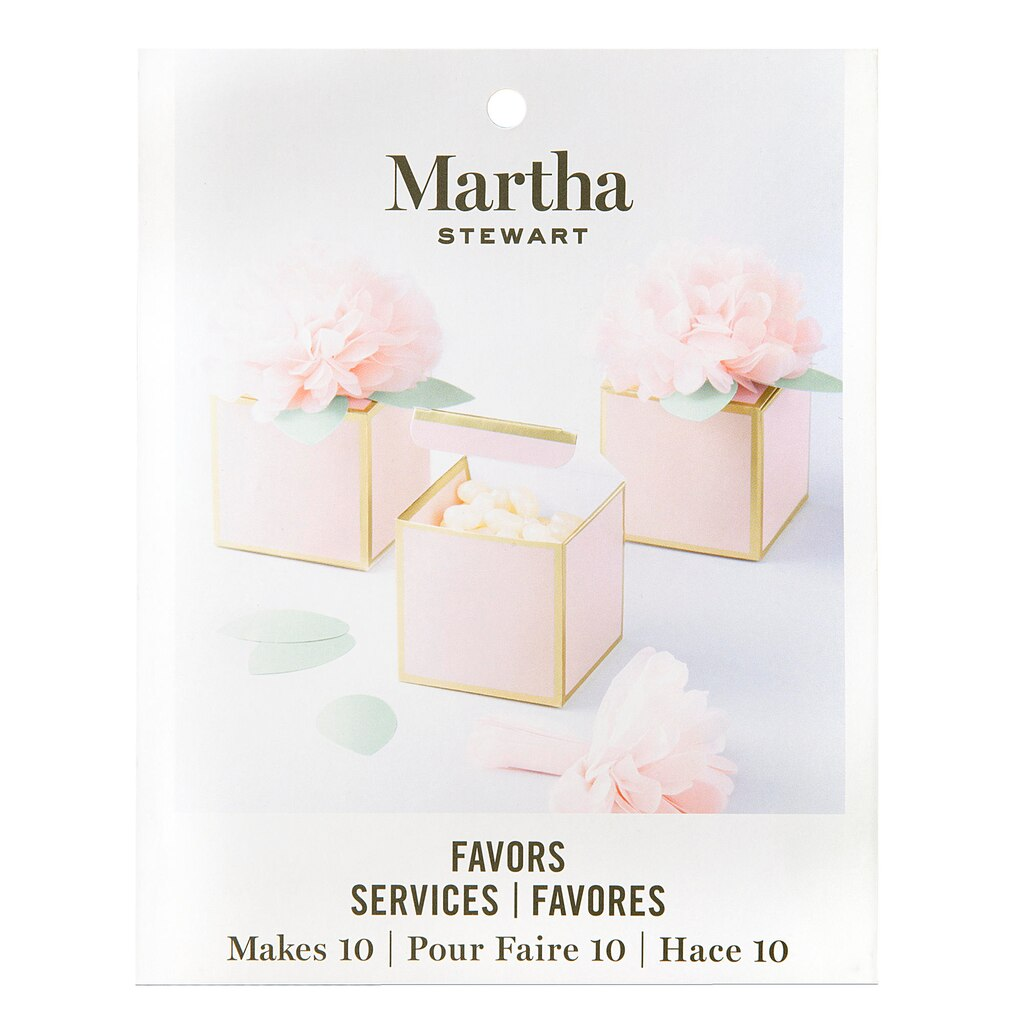 Find the Martha Stewart Mint Blush Favor Boxes at Michaels