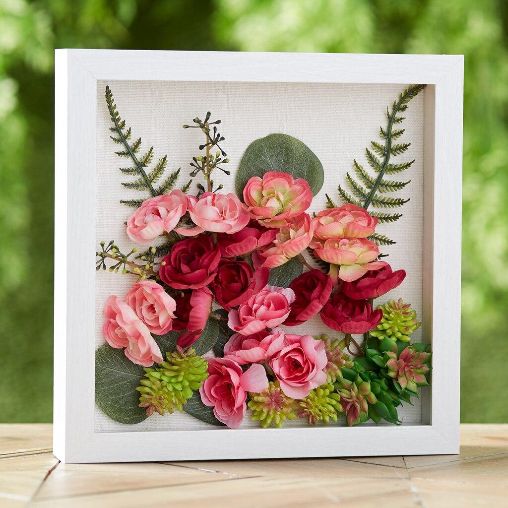 Flower Shadow Box Art