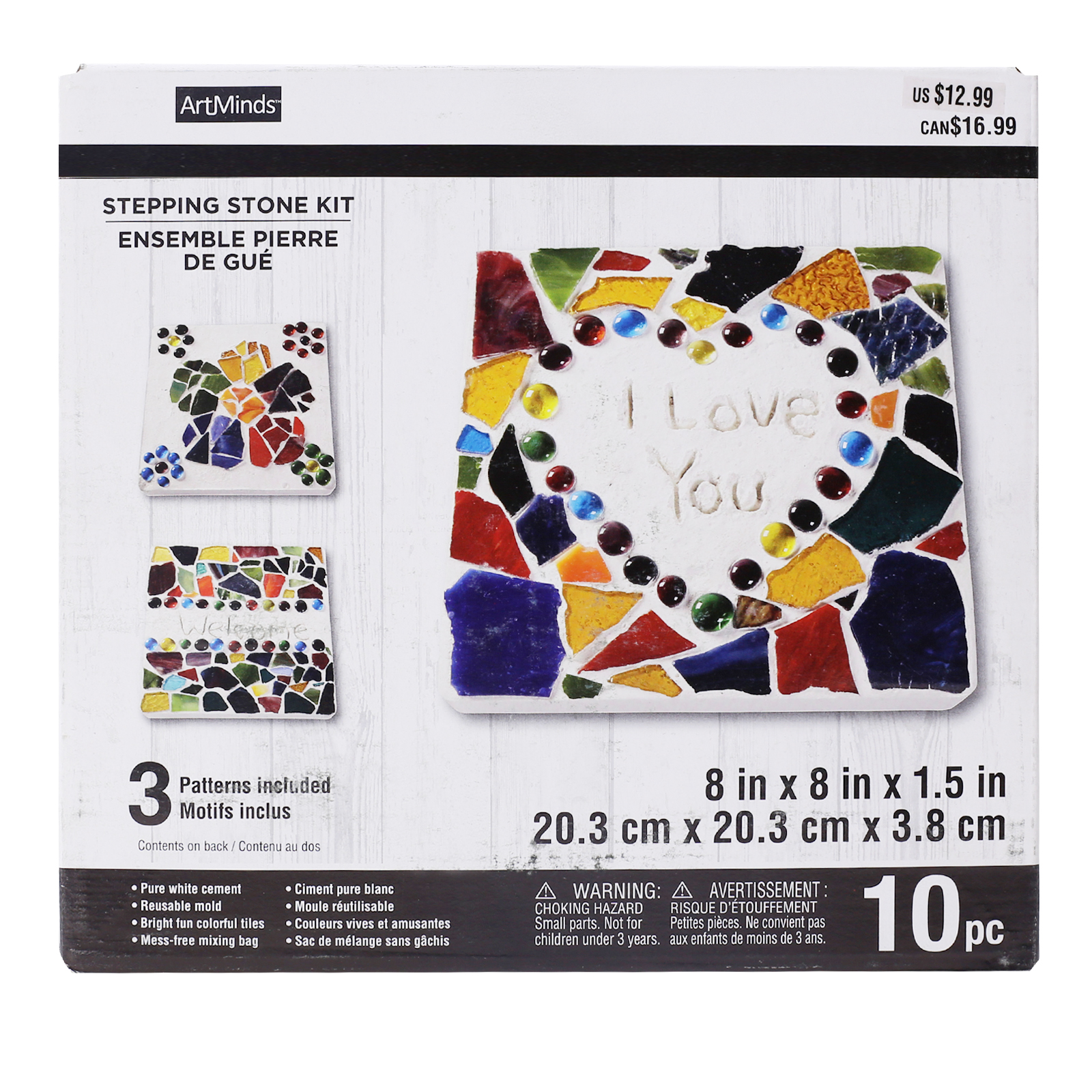 Square Garden Mosaics Stepping Stone Kit By ArtMinds ...