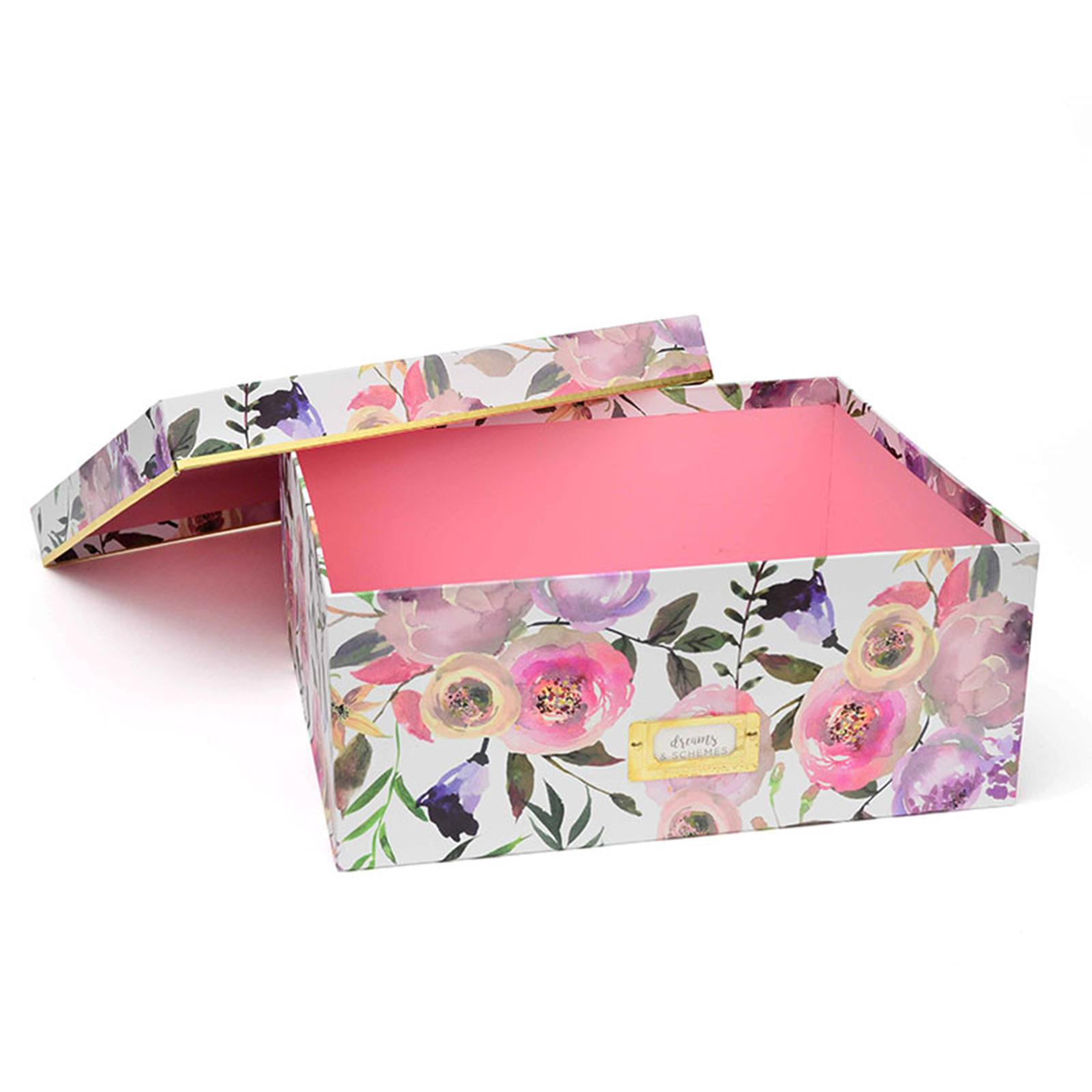 George Stanley Large Storage Box, Pretty Blooms U0026 Gold Foil