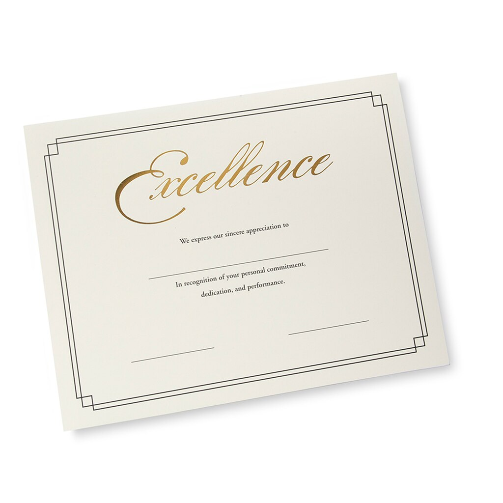 Gartner studios gold foil excellence certificates 12 count yadclub Image collections