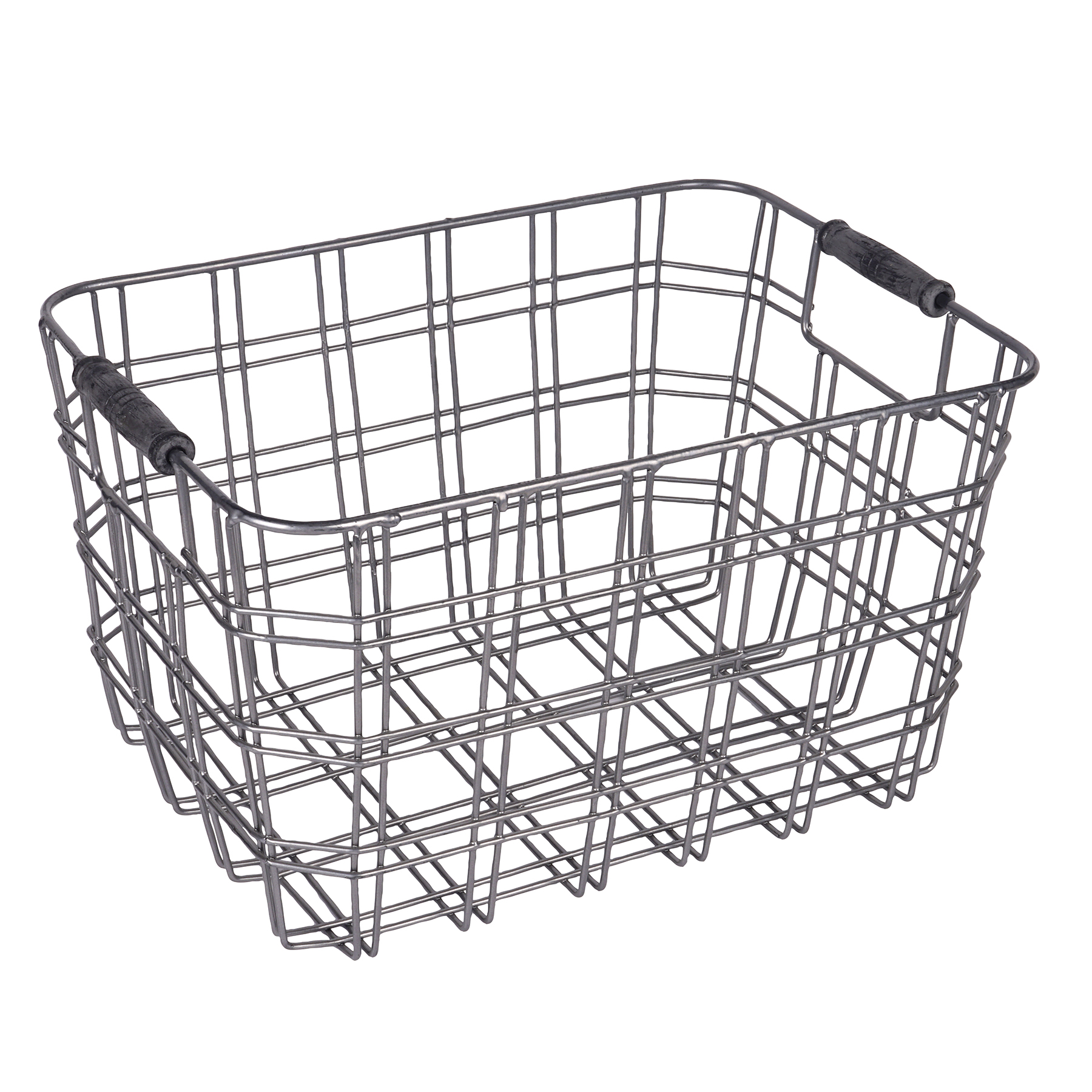 The Small Metal Wire Basket With Wooden Handles By Ashland At Rh Michaels Com En Baskets Round Liner
