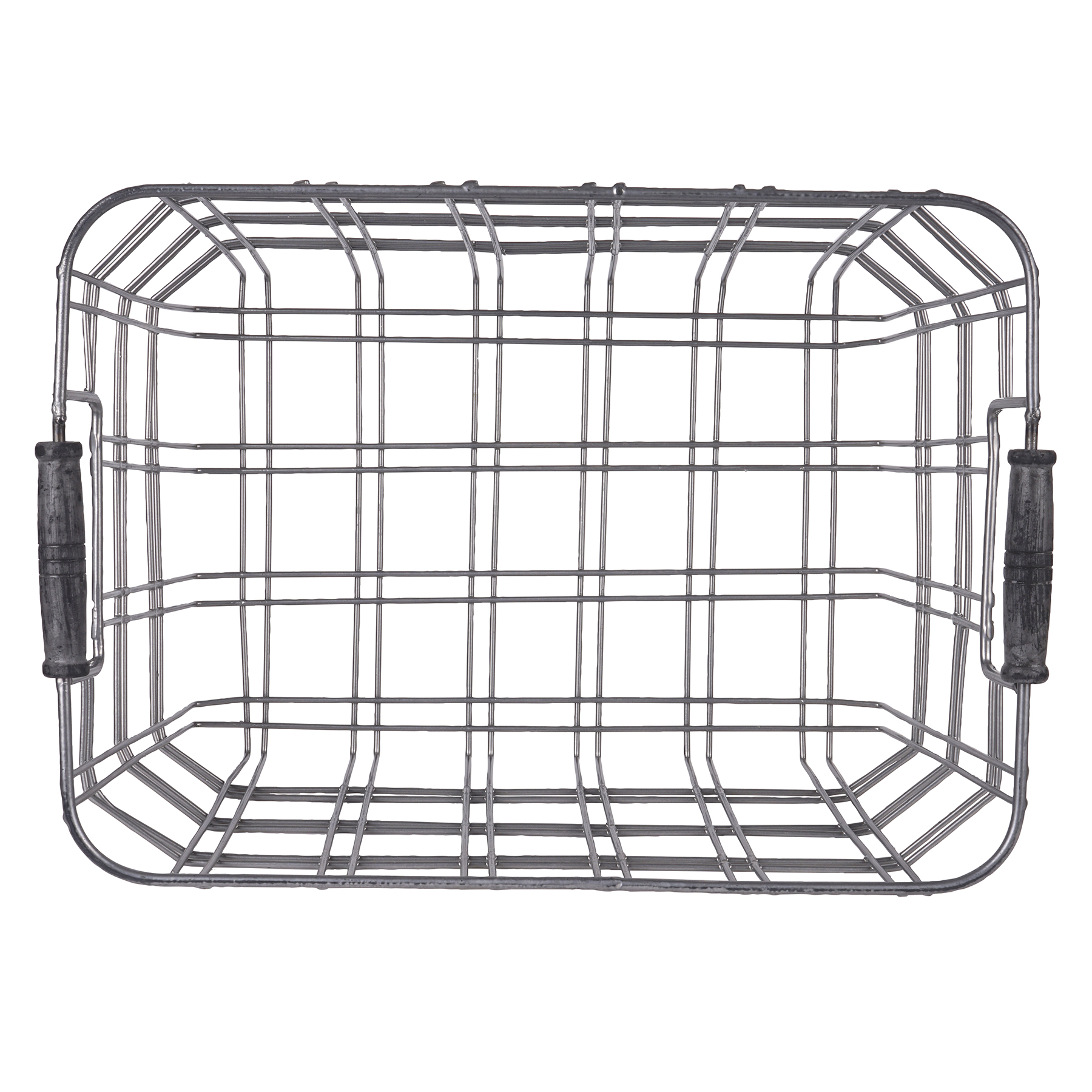 The Small Metal Wire Basket With Wooden Handles By Ashland At Baskets